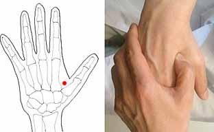 画像:生理痛を和らげるツボ「合谷」